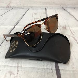 Ray-Ban Clubmaster brown tortoise sunglasses